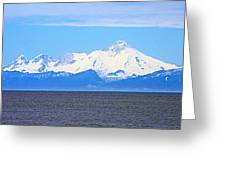 Mount Iliamna Across Cook Inlet From Ninilchik-alaska Greeting Card