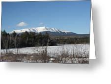 Mount Katahdin Winter 3 Greeting Card