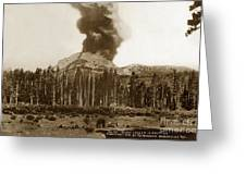 Mount Lassen Volcano California 1914 Greeting Card