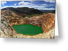 Mount Lyall Mine In Queenstown Greeting Card