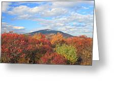Mount Monadnock From Gap Mountain In Autumn Greeting Card