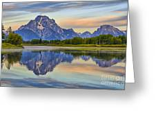 Mount Moran At Sunrise Greeting Card