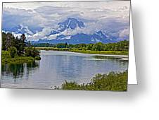 Mount Moran From Oxbow Bend N Grand Teton National Park-wyoming Greeting Card