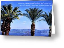 Mount Of The Beatitudes Greeting Card