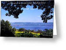 Mount Of The Beattitudes Greeting Card
