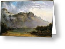 Mount Olympus. Lake St Clair. Tasmania The Source Of The Derwent Greeting Card