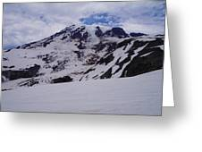 Mount Rainer In The Clouds Greeting Card