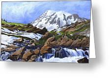 Mount Rainier From Edith Creek Greeting Card