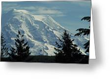 Mount Rainier From Patterson Road Greeting Card