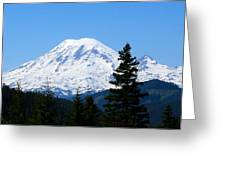 Mount Rainier Panorama Greeting Card