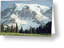 Mount Rainier Peak Greeting Card