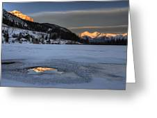 Mount Rundle And Vermillion Lakes Greeting Card