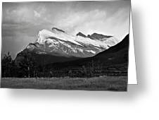 Mount Rundle At Banff National Park Greeting Card