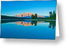 Mount Rundle At Jack Lake Greeting Card