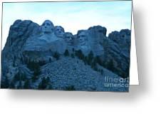 Mount Rushmore Blues Greeting Card