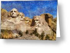Mount Rushmore Monument Photo Art Greeting Card