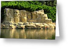 Mount Rushmore Greeting Card by Ricky Barnard