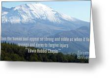 Mount Saint Helen's Text Greeting Card