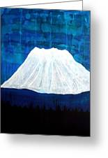 Mount Shasta Original Painting Greeting Card