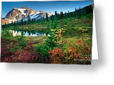 Mount Shuksan Fall Cornucopia Greeting Card