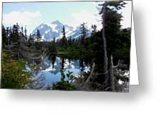 Mount Shuksan Reflection Greeting Card