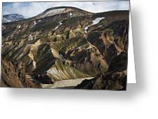 Mount Skalli From Mount Blahnukur Greeting Card