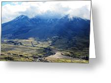 Mount St. Helen's Cloud Kissed Greeting Card