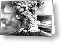 Mount St Helens Eruption Greeting Card