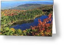 Mount Sunapee Lake Solitude Fall Foliage Greeting Card