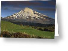 Mount Taranaki Western Flanks New Greeting Card