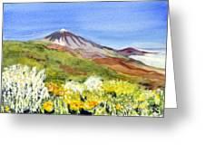 Mount Tiede In Tenerife Greeting Card