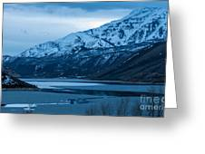 Mount Timpanogos Winter Evening Greeting Card