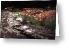 Mount Trashmore - Series Iv - Painted Photograph Greeting Card