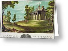 Mount Vernon, 1859 Greeting Card