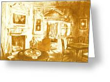 Mount Vernon In Golden Light Greeting Card
