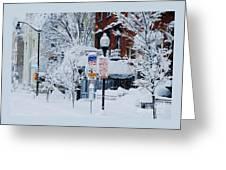 Mount Vernon Snow Land Greeting Card