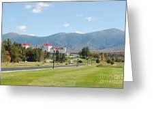 Mount Washington Hotel In New Hampshires White Mountains Greeting Card