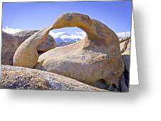 Mount Whitney Framed By The Mobius Arch Greeting Card