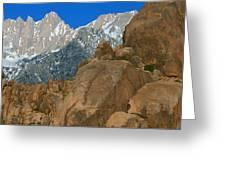 Mount Whitney, Lone Pine, California Greeting Card