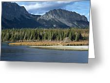 Mount Yamnuska Greeting Card