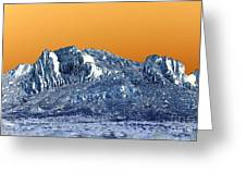 Mountain Abstract  Greeting Card