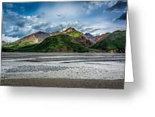 Mountain Across The River Greeting Card