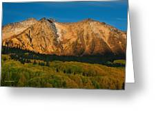 Mountain Autumn Sunrise Greeting Card