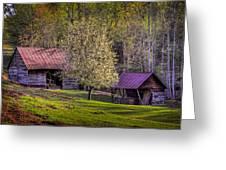 Mountain Barns In North Carolina Greeting Card