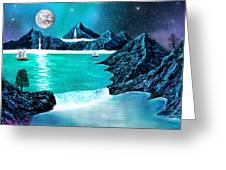 Mountain Bay Greeting Card