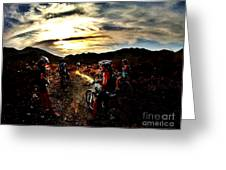 Mountain Biking Ladies Greeting Card by Scott Allison