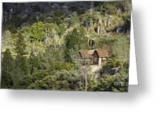 Mountain Cabin - Sierra Nevadas, California Usa Greeting Card