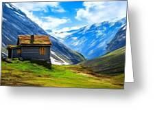 Mountain Cabin Greeting Card