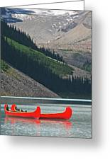 Mountain Canoes Greeting Card