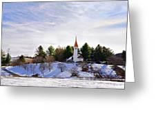 Mountain Church In Winter Greeting Card